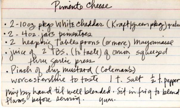 My own recipe. C.Hutson Wrenn