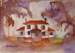 Watercolor of Middleton, Edisto Island