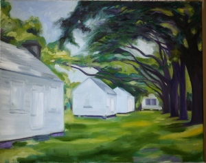 McLeod Plantation James Island SC painting by C Hutson-Wrenn