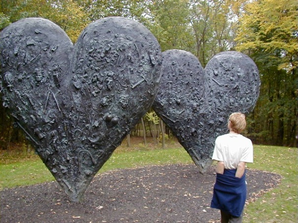 Sculpture, Jim Dine, Two Hearts, 1985