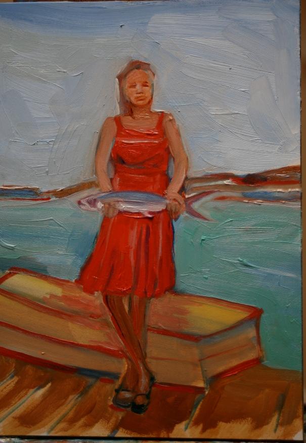 original oil painting by Charlotte Hutson Wrenn