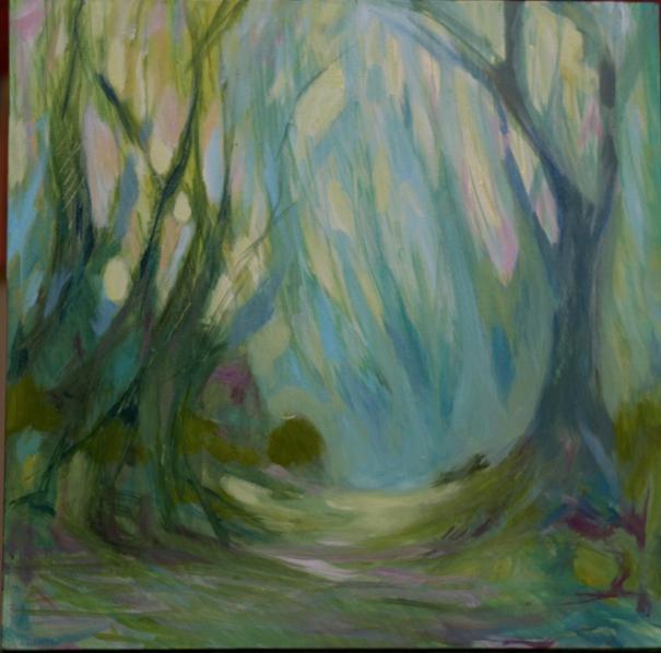 original painting by Charlotte Hutson Wrenn