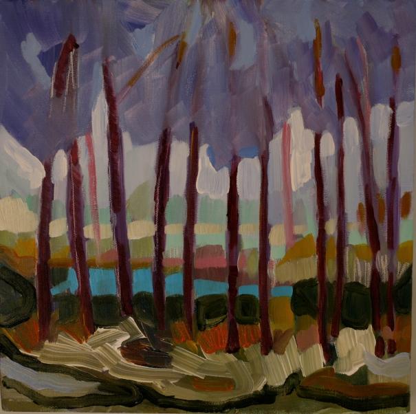 Blue Pond, original painting by C.Hutson Wrenn©2012