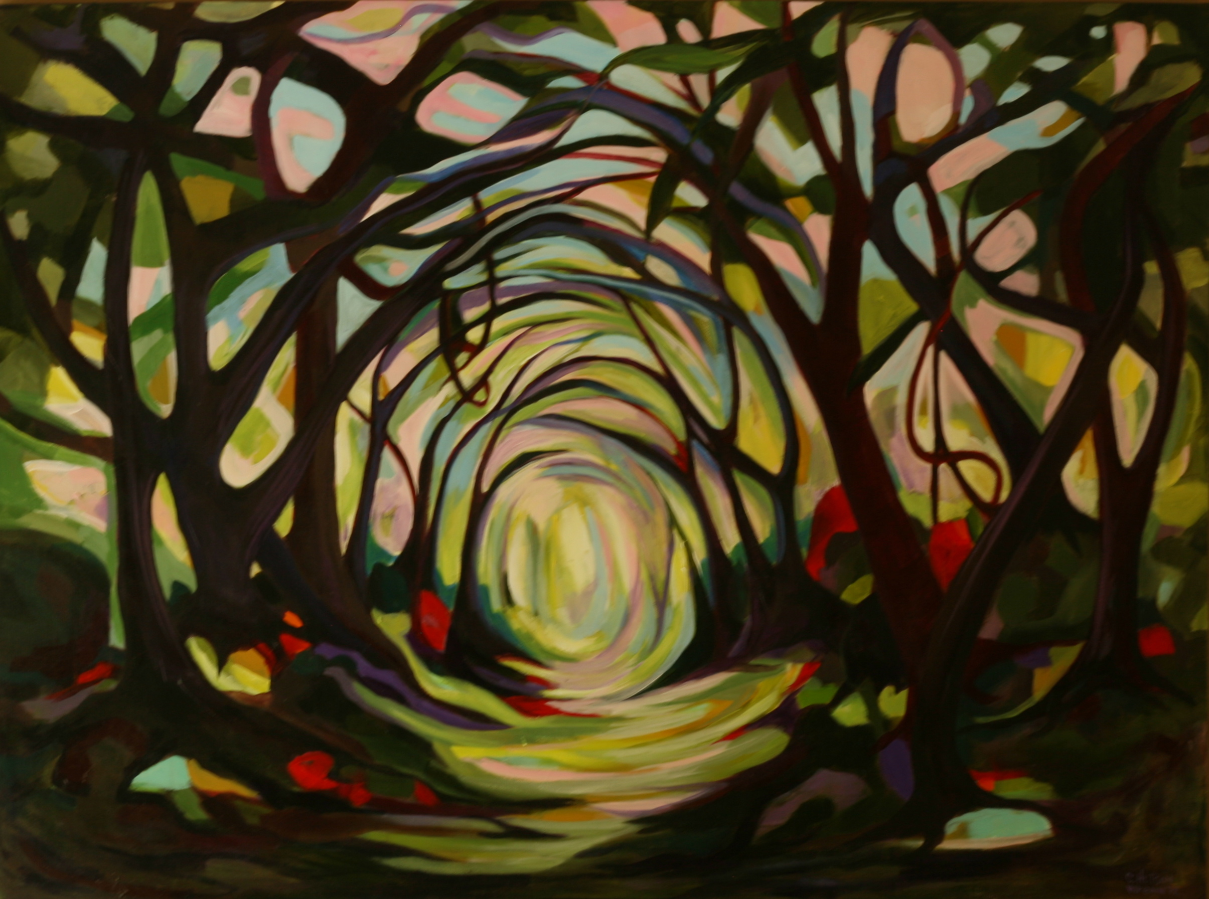 Paintings of Forest Paths Forest Path 30′x40′