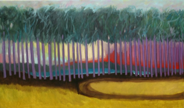 "40""x 24"" oil on canvas. A painting also to honor the long leaf pine forest of the Carolinas"