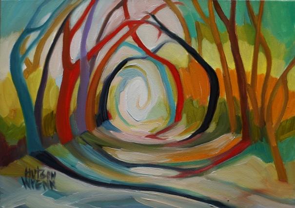 """Light.7"""" x 5"""" oil on panel ©2014 C. Hutson Wrenn"""