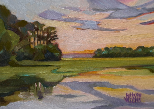 "Store Creek 7""x 5"" oil on panel ©C Hutson Wrenn"